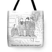 Man Talking To Priest Tote Bag