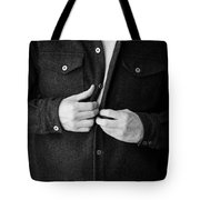 Man Unbuttoning His Shirt Tote Bag by Edward Fielding