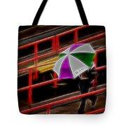 Man Under Umbrella Tote Bag