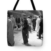 Man Waits In Heuston Station Dublin Tote Bag