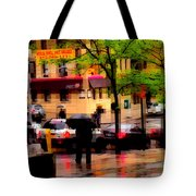 Reflections - New York City In The Rain Tote Bag