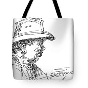 Man With A Hat Tote Bag