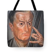 Man With Cello Tote Bag