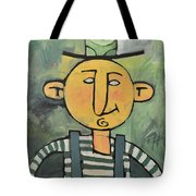 Man With Fancy Hat And Suspenders Tote Bag