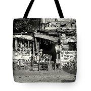 Man Woman And Schoolgirls Tote Bag