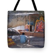 Man Worshiping Tote Bag