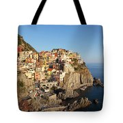 Manarola At Dusk Tote Bag