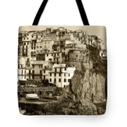 Manarola Italy Sepia Tote Bag