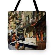 Manarola  Street - Cinque Terre Tote Bag