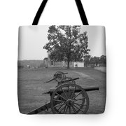 Manassas Battlefield Cannon And House Tote Bag
