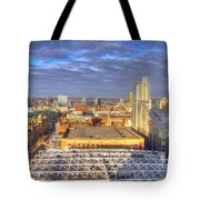 Manchester Skyline Panoramic Hdr Tote Bag