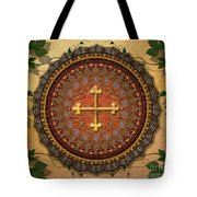 Mandala Armenian Cross Sp Tote Bag by Bedros Awak