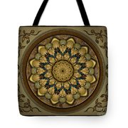 Mandala Earth Shell Sp Tote Bag by Bedros Awak