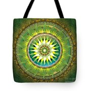 Mandala Green Tote Bag by Bedros Awak