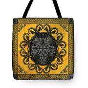 Mandala Obsidian Cross Tote Bag
