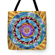 Mandala Wormhole 101 Tote Bag by Derek Gedney