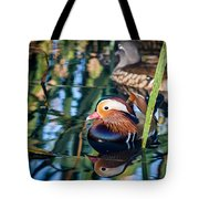 Mandarin Duck Reflections Tote Bag