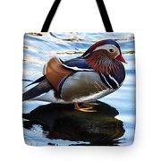 Mandarin Duck Tote Bag by Robert Bales