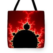 Mandelbrot Fractal Flash Power Red And Black Tote Bag