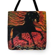 Mane In Autumn Light Tote Bag