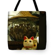 Maneki Neko Japanese Beckoning Money Cat 02 Tote Bag