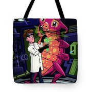 Manga Professor With Nice Pink Monster Experiment Tote Bag