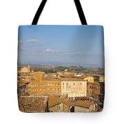 Mangia Tower Piazzo Del Campo  Siena  Tote Bag