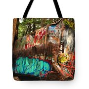 Mangled Whistler Train Wreck Box Car Tote Bag