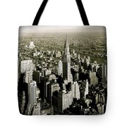Manhattan And Chrysler Building II Tote Bag