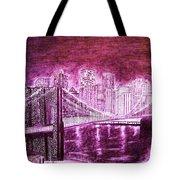 Manhattan At Night Enhanced Tote Bag