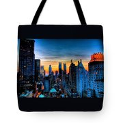 Manhattan At Sunset Tote Bag