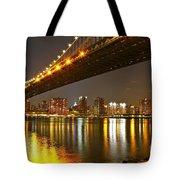 Manhattan Bridge By Night Tote Bag