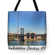 Manhattan Bridge Nyc Tote Bag