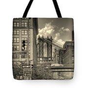Manhattan Bridge Peeking Through Tote Bag