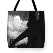 Manhattan Brooklyn Bridge View Tote Bag