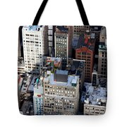 Manhattan From Above Tote Bag