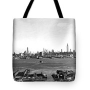 Manhattan From New Jersey Tote Bag
