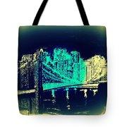 Manhattan In Blue Tote Bag