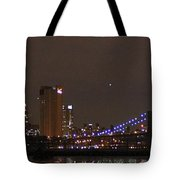 Manhattan Lit Up For The Super Bowl Tote Bag
