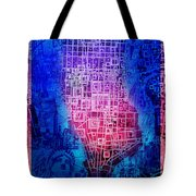 Manhattan Map Abstract 5 Tote Bag