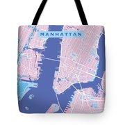 Manhattan Map Graphic Tote Bag
