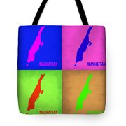 Manhattan Pop Art Map 1 Tote Bag by Naxart Studio