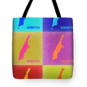 Manhattan Pop Art Map 3 Tote Bag