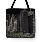 Manhattan Skyline Abstract Tote Bag