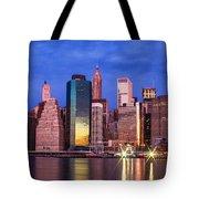 Manhattan Skyline At Sunrise Tote Bag