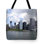 Manhattan Skyline From The Hudson River Tote Bag