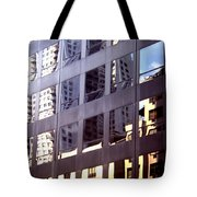 Manhattan Skyscraper Reflection Tote Bag