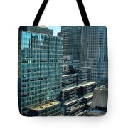 Manhattan Skyscrapers Labyrinth Tote Bag