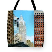 Manhattan Skyscrapers Tote Bag
