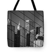 Manhattan Through The Brooklyn Bridge Tote Bag